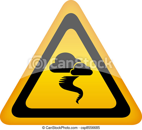 Hurricane warning sign - csp8556685