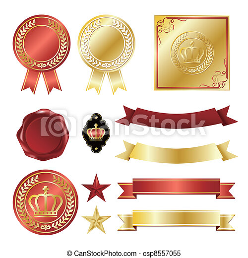 Gold icons set - csp8557055