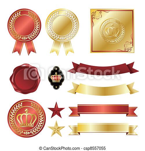 Gold icons set - csp8557055