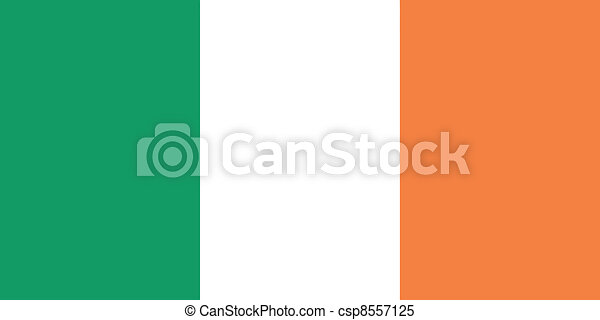 Vector illustration of the flag of  Ireland - csp8557125