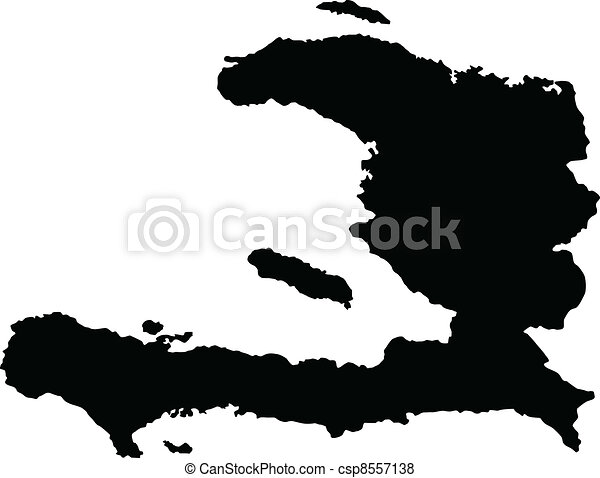 Vector illustration of maps of   Haiti - csp8557138