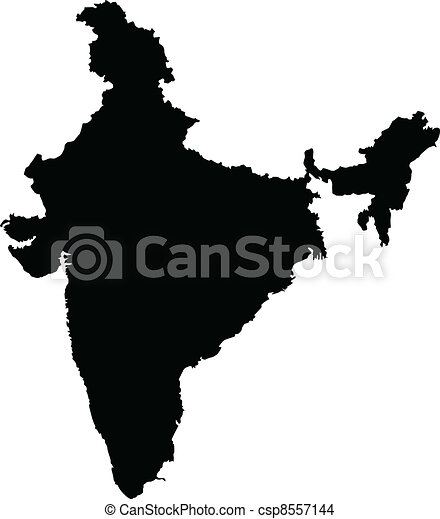 Vector illustration of maps of India - csp8557144