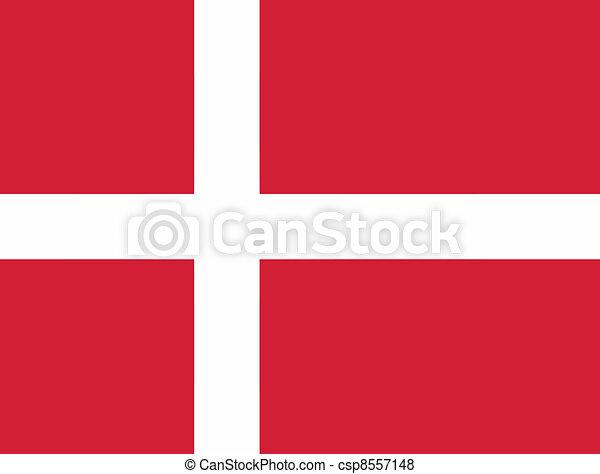 Vector illustration of the flag of  Denmark - csp8557148