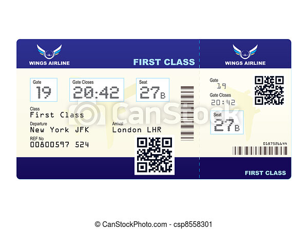 Vector Clip Art Of Plane Ticket Qr Code Fake Plane