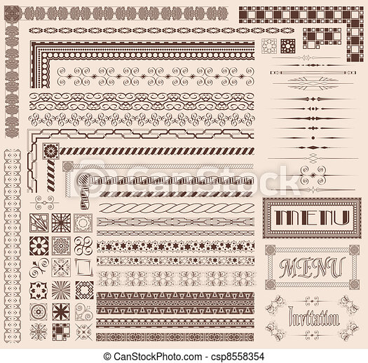 Decorative border elements - csp8558354