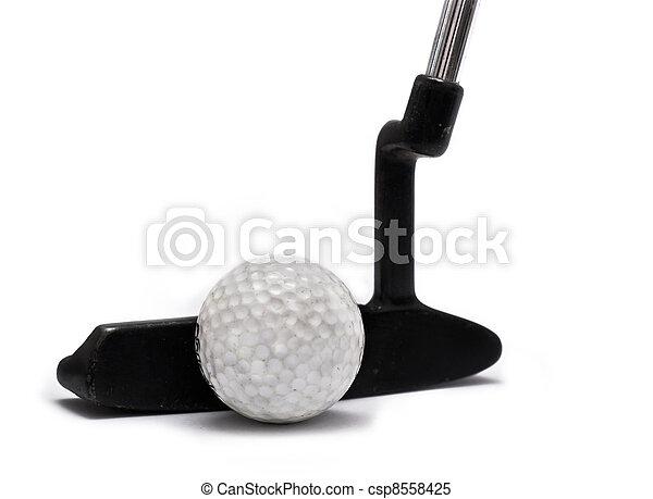 Golf blade Putter on white - csp8558425