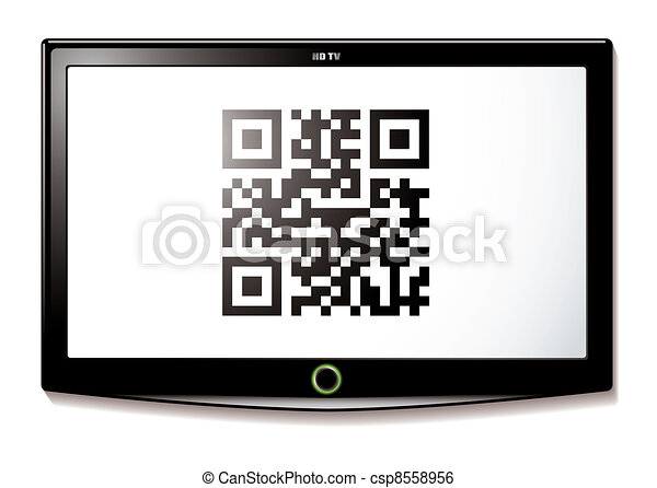 LCD TV QR code scan - csp8558956