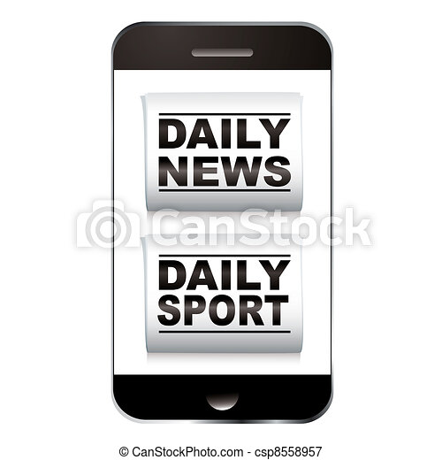 Smart phone sport news - csp8558957