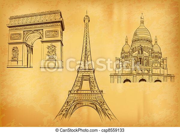 paris symbols - csp8559133