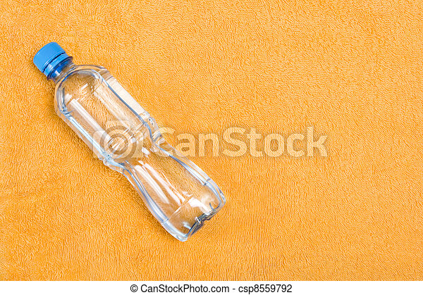 Wellbeing with water in bottle - csp8559792