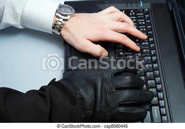 Identity theft hacker and businessman - csp8560445