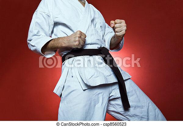 Practice karate