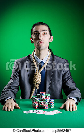 Man playing in the casino - csp8562457
