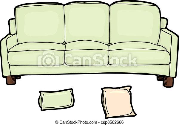 Clipart vettoriali di lungo divano illustrazione for Divano disegno