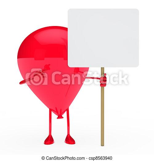 ballon hold billboard - csp8563940