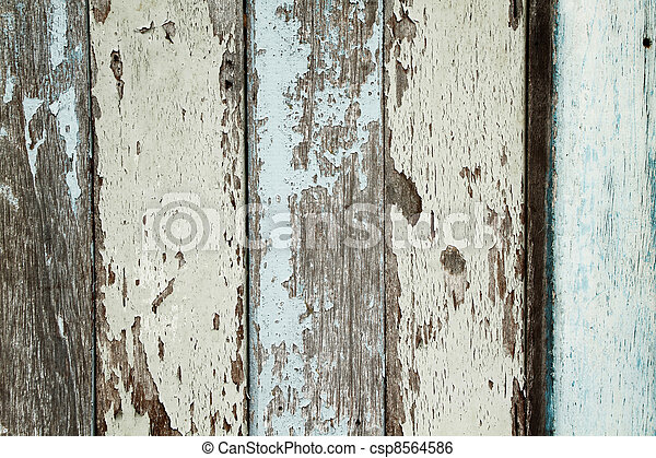 Old wood wall and chipping color - csp8564586