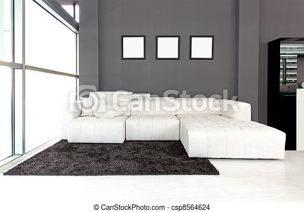 White sofa - csp8564624