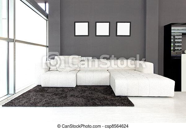 White sofa - csp8564624