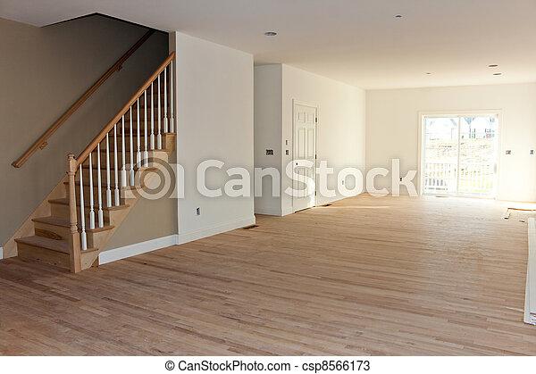 stock fotos von inneneinrichtung haus neu gebaut neu. Black Bedroom Furniture Sets. Home Design Ideas