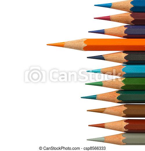Lead orange color pencil - csp8566333