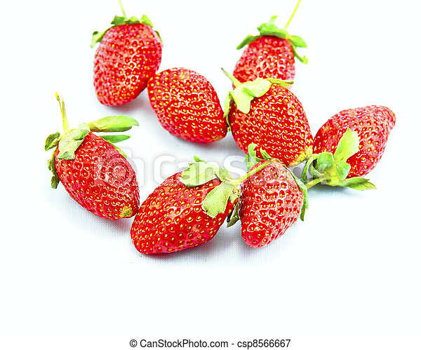 beautiful, berry, closeup, delicious, food, fresh, freshness, fruit, green, group, half, healthy, isolated, juicy, leaf, macro, organic, part, raw, red, refreshment, ripe, seeds, shiny, slice, strawbe - csp8566667