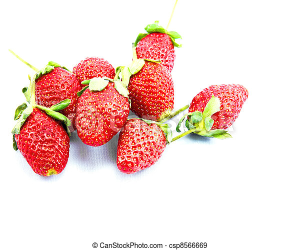 beautiful, berry, closeup, delicious, food, fresh, freshness, fruit, green, group, half, healthy, isolated, juicy, leaf, macro, organic, part, raw, red, refreshment, ripe, seeds, shiny, slice, strawbe - csp8566669