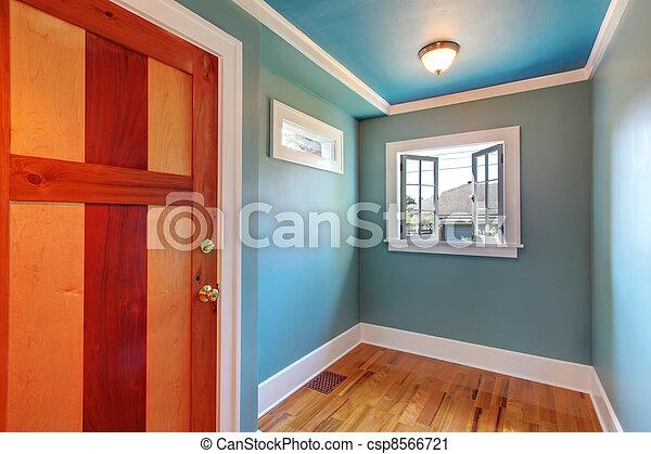Archivi fotografici di cutom legno porta blu vuoto - Maniglia finestra gira a vuoto ...
