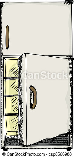 Open Door Fridge - csp8566988