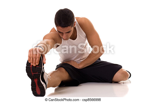 Sitting Hamstring Stretch - csp8566998