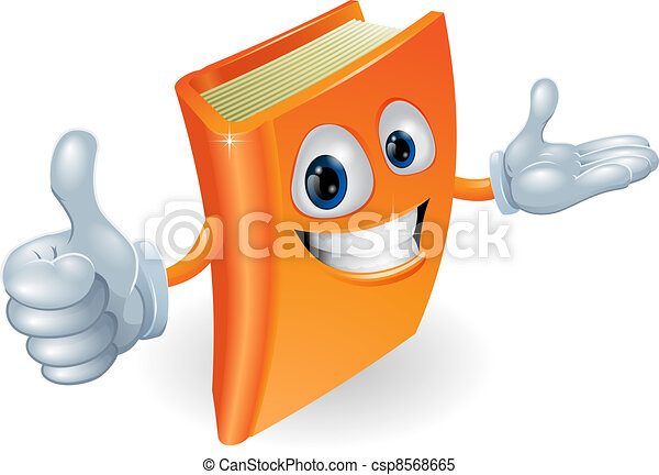 Book character illustration - csp8568665