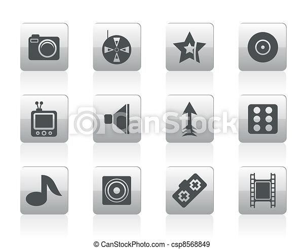 Entertainment Icons  - csp8568849