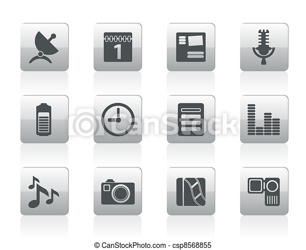 Mobile phone performance icons - csp8568855