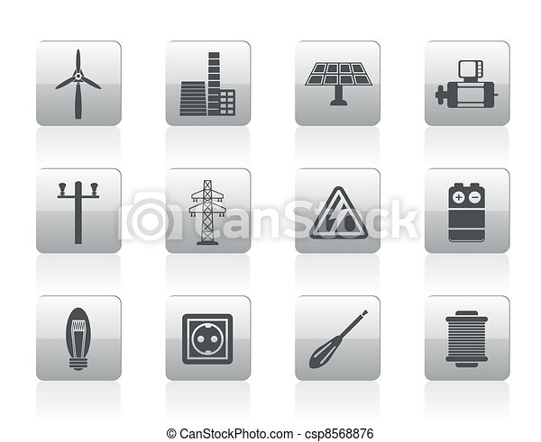 Electricity and power icons - csp8568876