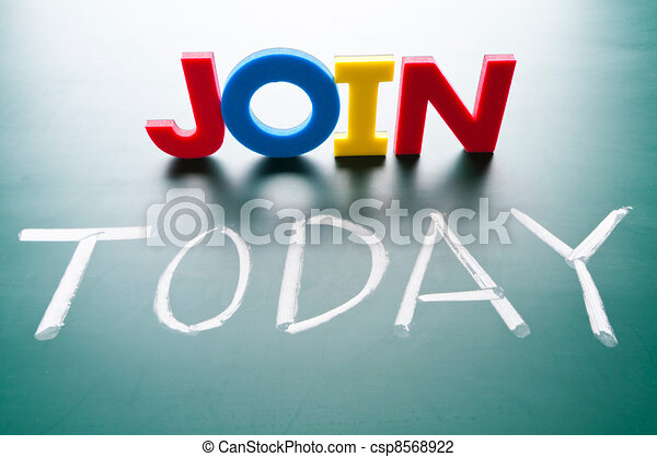 Join today concept - csp8568922