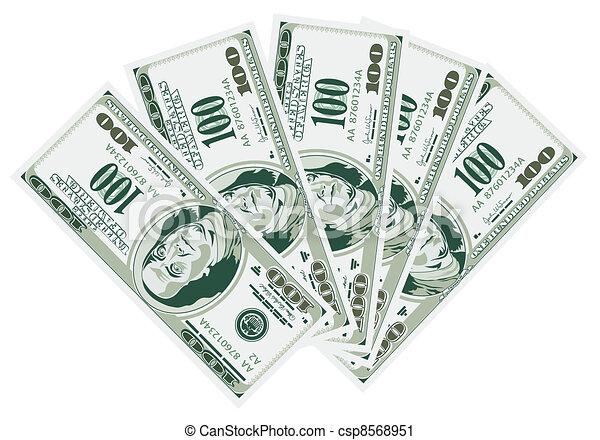 Five Hundred Dollar Bills - csp8568951