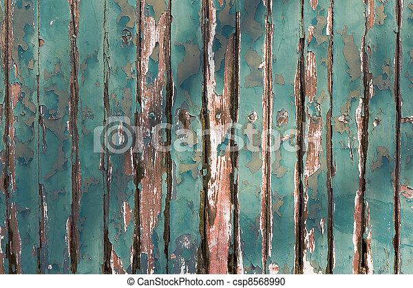 Stock Fotografie van muur, oud, hout, groene, Afbreken - oud, groene ...