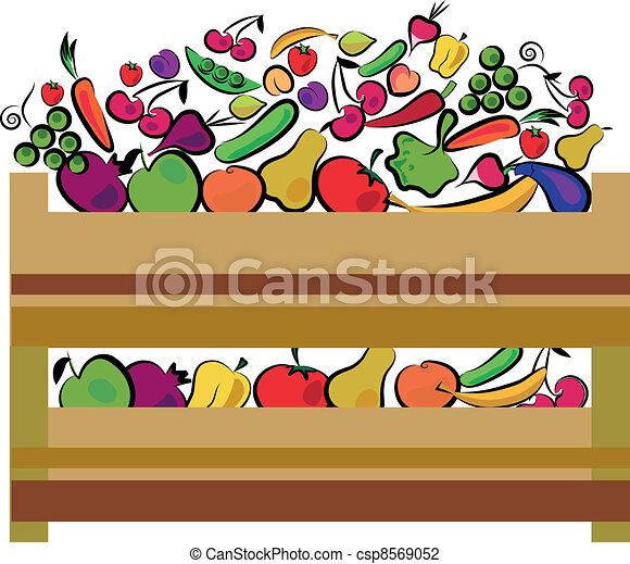 organic food label in green colors - csp8569052