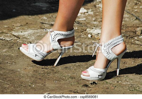Legs and high heels  - csp8569081
