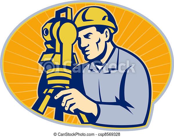 Surveyor Engineer Theodolite Total Station - csp8569328
