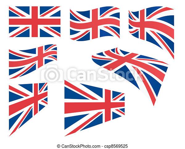 set of United Kingdom flags - csp8569525