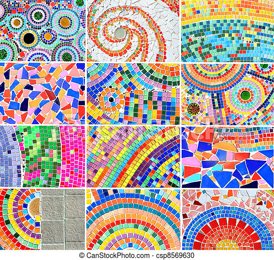 mix Colorful mosaic background