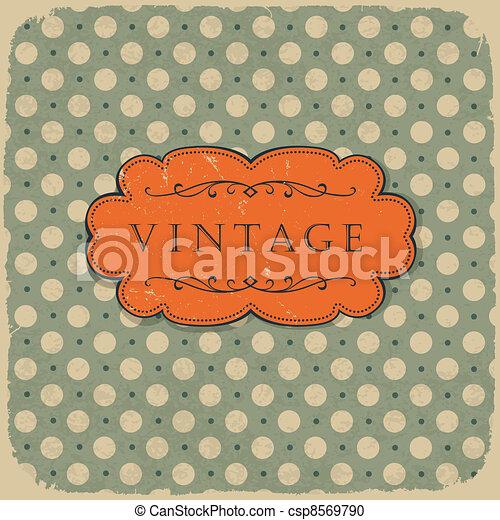 Polka dot design, vintage styled background. - csp8569790