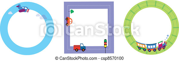 card templates with toy transportation - csp8570100
