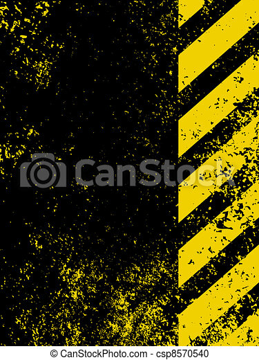 Diagonal hazard stripes texture. EPS 8 - csp8570540