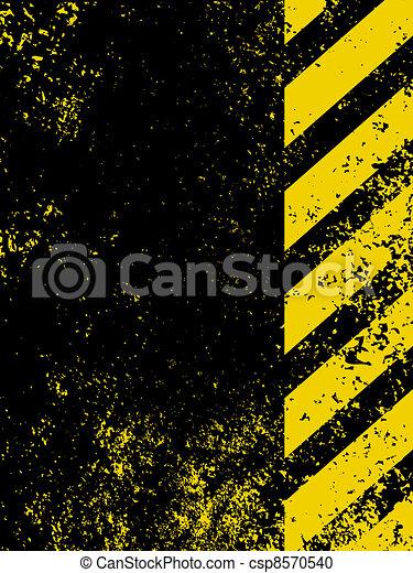 Diagonal hazard stripes texture. EPS 8 - csp8570540