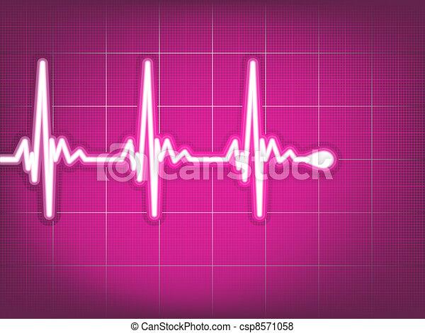 Cardiogram EKG. EPS 8 - csp8571058