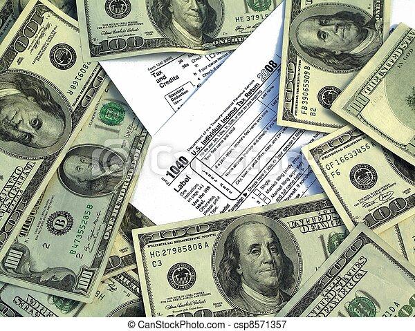 Government Tax Money - csp8571357