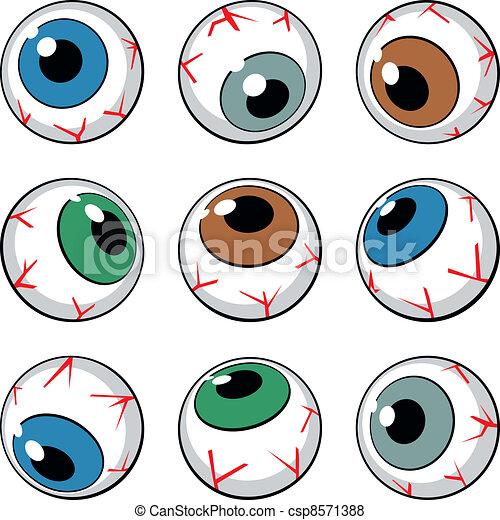 Vector of Set of eyeballs on white background - Set of eyeball ...