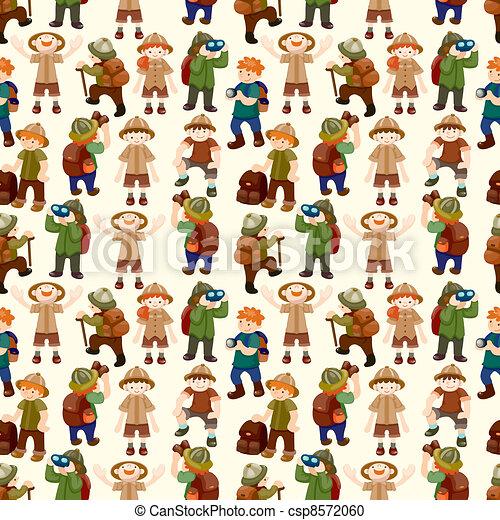 Adventurer people seamless pattern - csp8572060