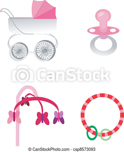 baby stroller and toys - csp8573093